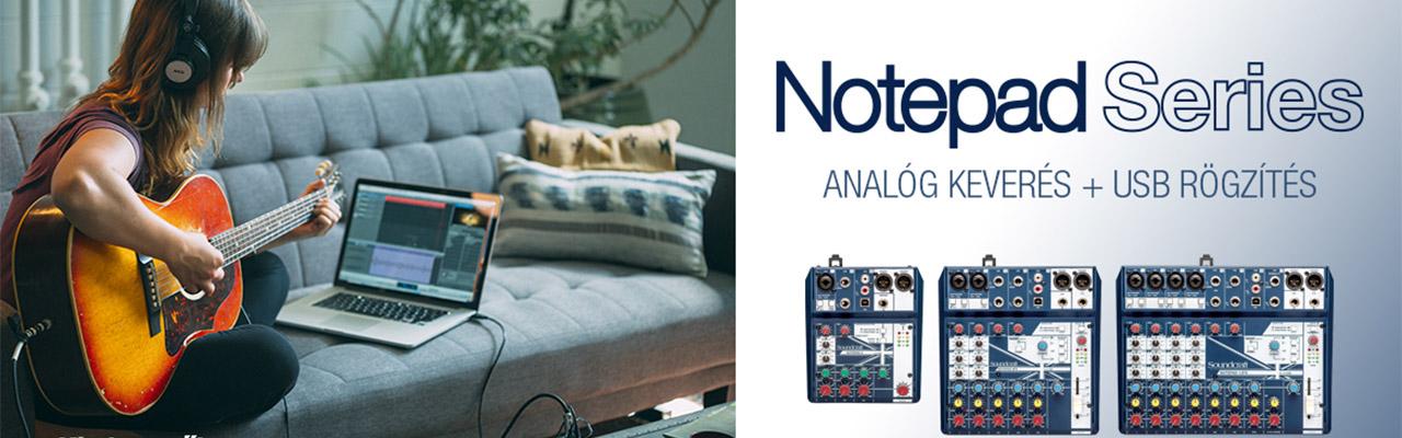 Soundcraft - Note pad keverőpiltok USb vel