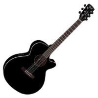 Cort - SFX1F-BK EA. OOO Western gitár elektronikával fekete ajándék félkemény tok