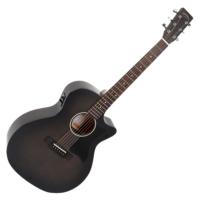 Sigma - GMC-STE-BKB akusztikus gitár elektronikával fekete burst ajándék félkemény tok