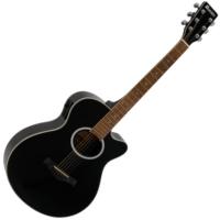Dimavery - AW-400 Western gitár elektronikával fekete ajándék puhatok