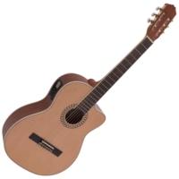 Dimavery - CN-600 Klasszikus gitár elektronikával natúr ajándék puhatok