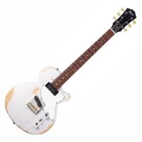 Cort - Sunset TC-WWB elektromos gitár koptatott fehér ajándék puha tok