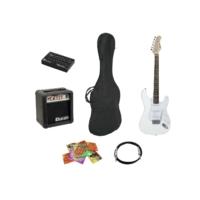 Dimavery - EGS-10X Elektromos gitár szett fehér