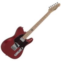 Dimavery - TL-501 Modern elektromos gitár gyöngyház piros ajándék puhatok