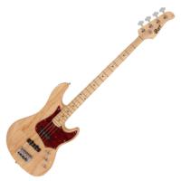 Cort - GB74J-NAT elektromos basszusgitár natúr ajándék félkemény tok