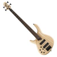 Cort - B4PlusLH-AS Artisan balkezes elektromos basszusgitár natúr ajándék félkemény tok
