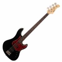 Cort - GB54-Alder elektromos basszusgitár fekete ajándék félkemény tok