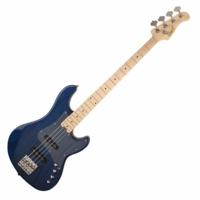 Cort - GB74JJ-AB elektromos basszusgitár vízkék ajándék félkemény tok