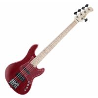 Cort - GB75JH-TR 5 húros elektromos basszusgitár piros ajándék félkemény tok