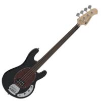 Dimavery - MM-501 E-BASS fretless elektromos basszusgitár fekete ajándék puhatok