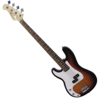 Dimavery - PB-320 E-Bass LH balkezes elektromos basszusgitár sunburst ajándék puhatok