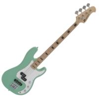 Dimavery - PB-550 E-BASS elektromos basszusgitár szörf zöld ajándék puhatok