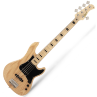 Cort - GB55JJ-NAT 5 húros elektromos basszusgitár natúr ajándék félkemény tok