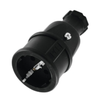PC Electric - Safety Connector Rubber bk