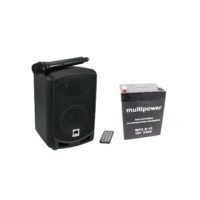 Omnitronic - WAMS 065-BT+Battery Wireless PA System tartozék akkumulátorral