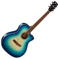 Cort akusztikus gitár elektronikával, kék burst