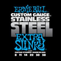 Ernie Ball - Stainless Steel Extra Slinky 8-38 Elektromos Gitárhúr készlet