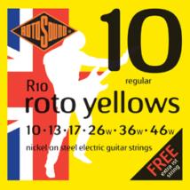 Rotosound - R10 Roto Yellows regular elektromos gitárhúr készlet 10-46