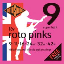 Rotosound - R9 Roto Pinks super light elektromos gitárhúr készlet 9-42