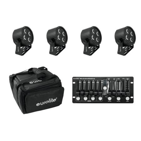 EUROLITE - Set 4x LED PS-4 HCL + Soft Bag + Controller szett