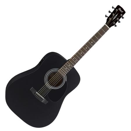 Cort - AD810E-BKS akusztikus gitár elektronikával matt fekete