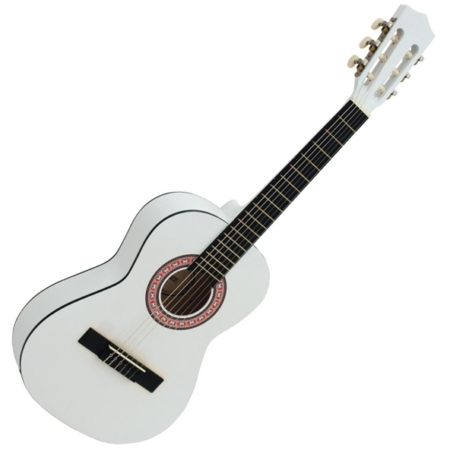 Dimavery - AC-303 1/2-es klasszikus gitár fehér színben