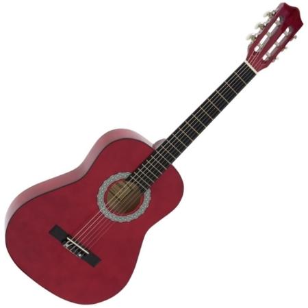 Dimavery - AC-303 3/4-es klasszikus gitár vörös színben