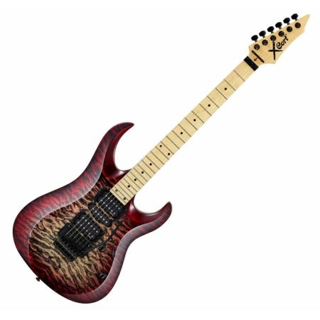 Cort - X11QM-WRB elektromos gitár vörös burst