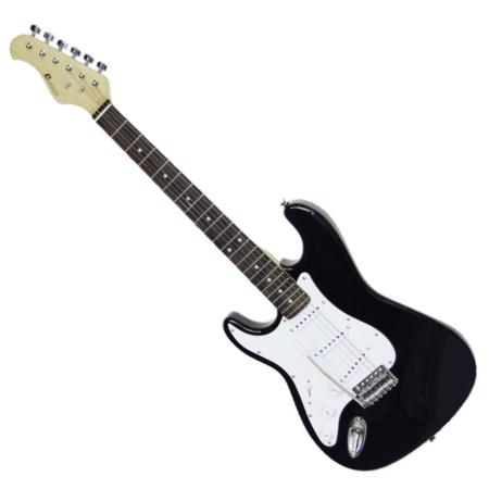 Dimavery - ST-203 Balkezes elektromos gitár fekete, szemből