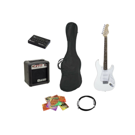 Dimavery - EGS-10X electric guitar set, white