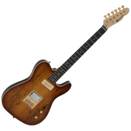 Dimavery - TL-501 Prestige elektromos gitár spalted maple ajándék puhatok, szemből