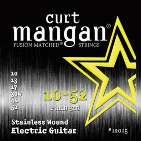 Curt Mangan - Stainless Steel 10-52 Elektromos Gitárhúr készlet