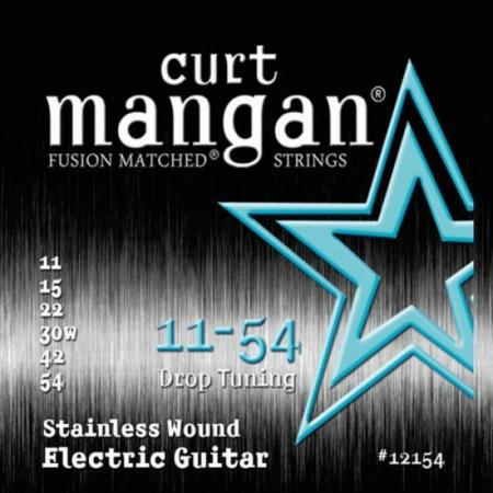 Curt Mangan - Stainless Steel Drop Tuning 11-54 Elektromos Gitárhúr készlet