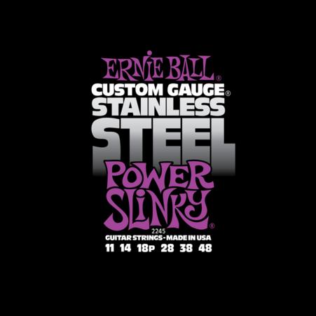 Ernie Ball - Stainless Steel Power Slinky 11-48 Elektromos Gitárhúr készlet