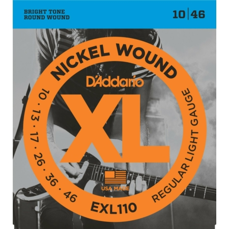 D'Addario EXL110 Nickel Wound Regular Light 10-46 elektromos gitárhúr