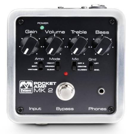 Palmer - MI Pocket Amp MKII zsebméretű gitár előerősítő, szemből