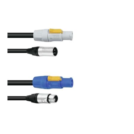 PSSO - Combi cable DMX Powercon/XLR 3 m
