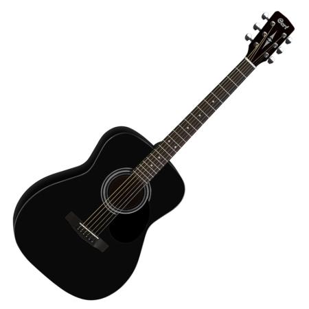 Cort akusztikus folkgitár, matt fekete