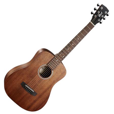 Cort akusztikus mini gitár, mahagóni, tokkal