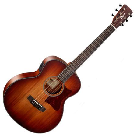 Cort akusztikus gitár, kis jumbo test, Fishman PU, világos burst