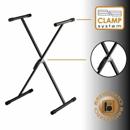 Bespeco billentyű X-állvány szimpla, gyorsrögzítős