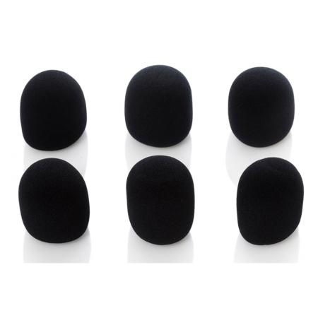Bespeco mikrofonszivacs, fekete 6db-os csomag