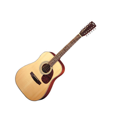 Cort akusztikus gitár elektronikával, 12 húros, matt natúr