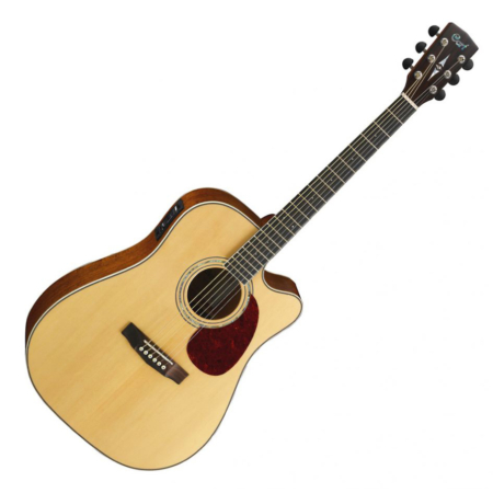 Cort akusztikus gitár Fishman el-val, natúr
