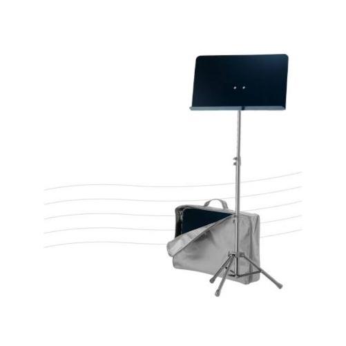 König & Meyer - kottaállvány teli pulttal, teleszkópos oszloppal, hordtáskával, fekete