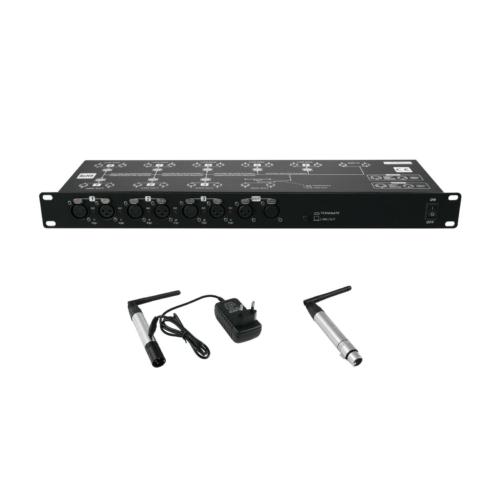 EUROLITE - Set DMX Split 8X Splitter + transmitter + receiver