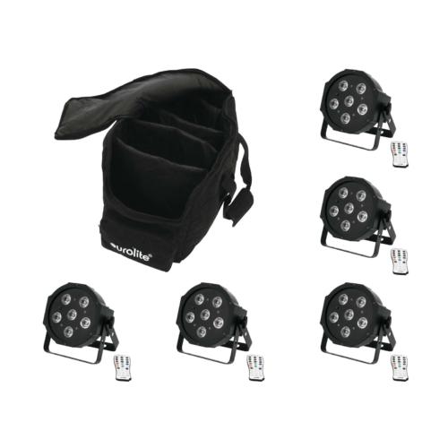 EUROLITE - Set 5x LED SLS-603 + Case