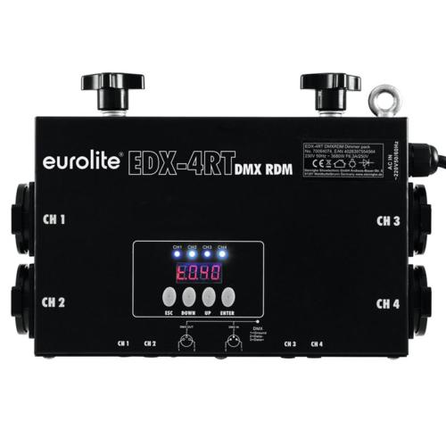 EUROLITE EDX-4RT DMX RDM Truss Dimmer Pack Szemből
