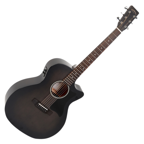 Sigma - GMC-STE-BKB akusztikus gitár elektronikával fekete burst