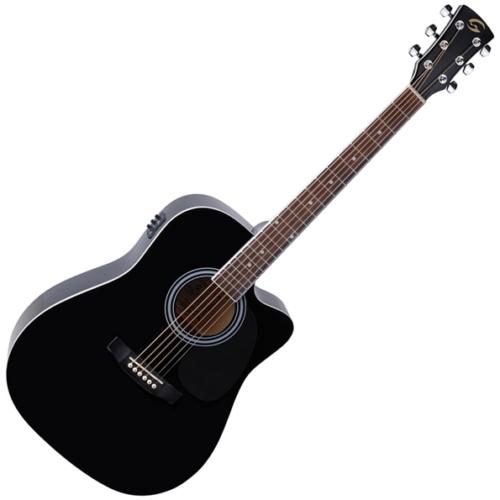 Soundsation - Yellowstone-DNCE-BK akusztikus gitár elektronikával fekete